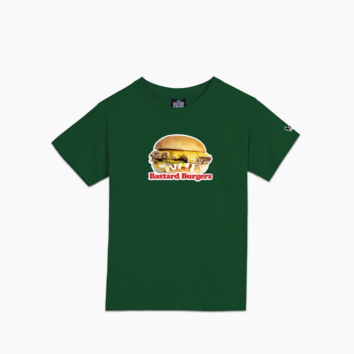 Kids The Burger Dark Green Tee R