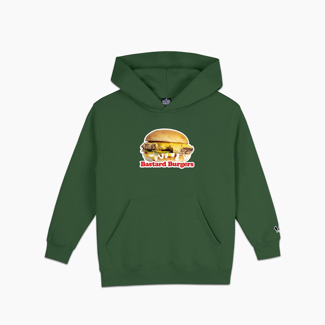 Kids The Burger Green Hood