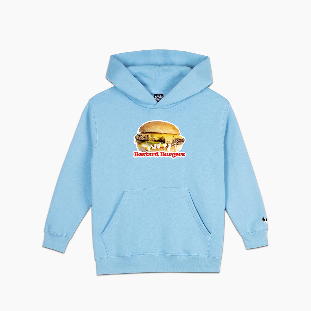 Kids The Burger Lt Blue Hood